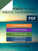 El Propósito de Dios Para El Matrimonio