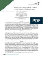 (Dutra Et Al) Avaliação Neuropsicológica de Habilidades Atentivas Em Pacientes Com Transtorno Depressivo Maior