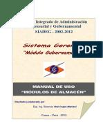 Manual Gerencial - Gubernamental - Almacen