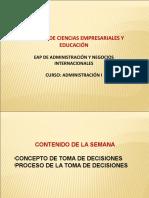 DEFINICIÓN DE TOMA DE DECISIONES