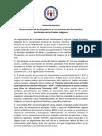 PRONUNCIAMIENTO Proyecto de Ley Amenaza Los Derechos Territoriales de Los Pueblos Indígenas