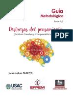 Guiěa Destrezas del pensamiento LIC PADEP final.pdf