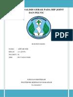 Analisis Gerakan Pada Hip Joint Dan Pelvic