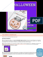 French Halloween Mini Book Halloween