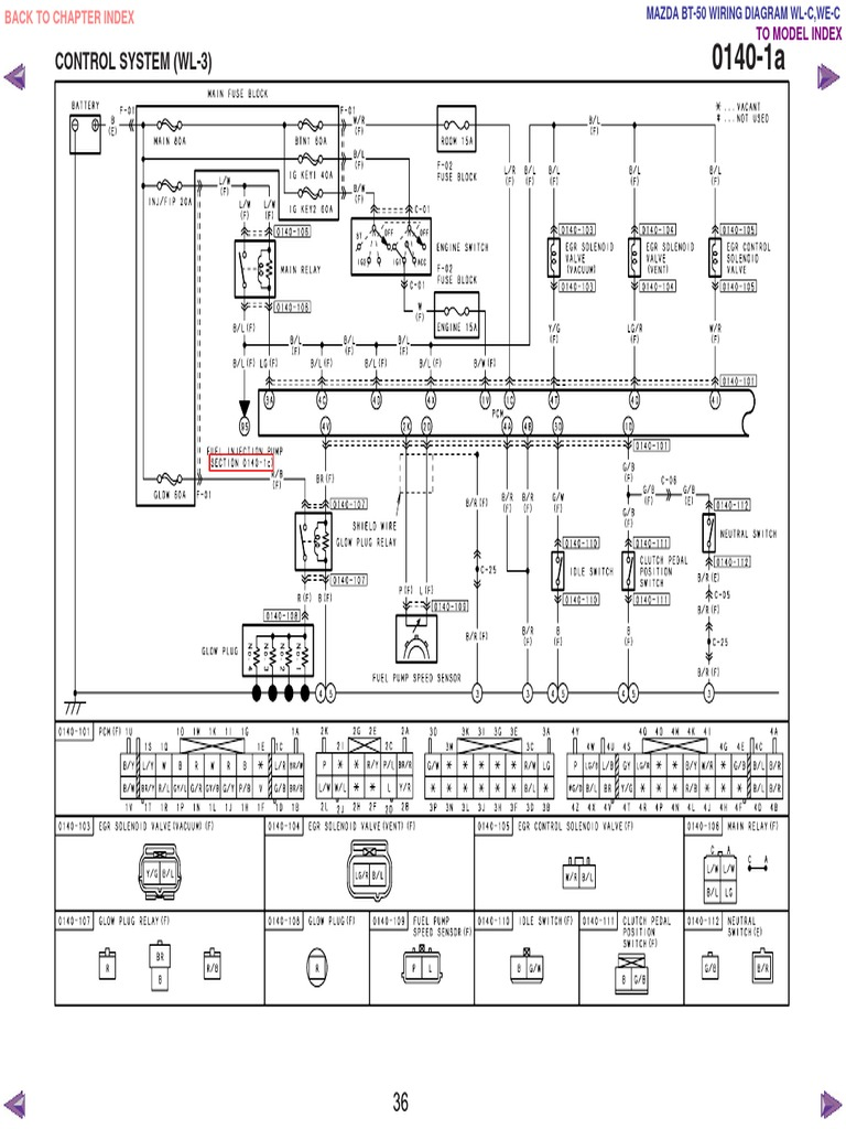mazda bt50 wl c & we c wiring diagram f198!30!05l34 well wiring diagram  vl wiring diagram wl wiring diagram #40