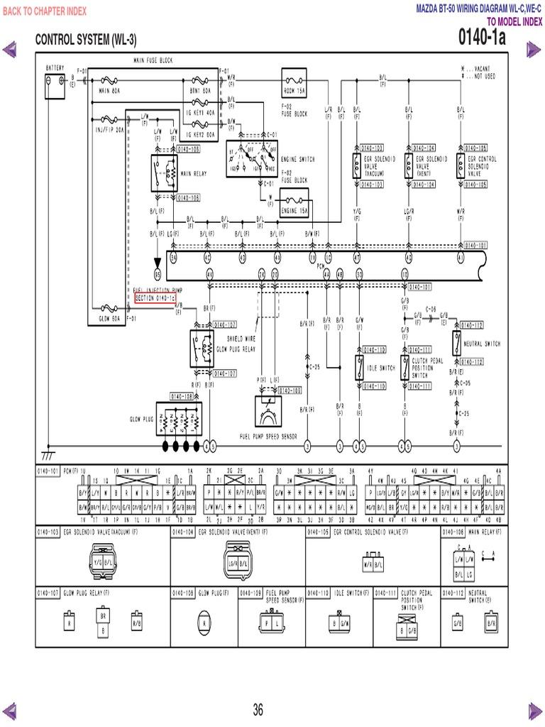 mazda bt50 wl c & we c wiring diagram f198!30!05l34  scribd