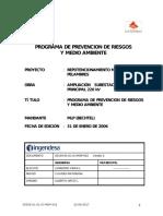 Programa de Prevencion de Riesgos y Medioambiente