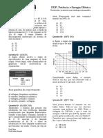 Lista Exercicios Fisica Ddp Potencia Energia Eletrica Especifica Fisica