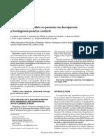 KAFO de vidrio en paciente con hemiagnosia y hemiparesia posictus