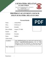 Ahmad Rifai's Form