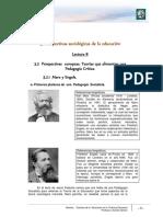Perspectivas Europeas. Teorías Que Alimentan Una Pedagogía Crítica