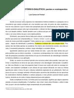 Freitas, LC. Materialismo Histórico Dialético Pontos e Contrapontos