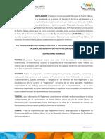 Reglamento Interno de Construccion Para El Fraccionamiento Residencial Fluvial Vallarta