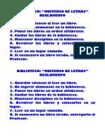 Biblioteca Reglamento Escolar