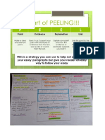 PEEL Process and Note Taking for Visual Learners