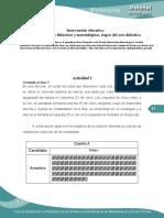 Intervencion Educativa Consideraciones Didacticas y Metodológicas