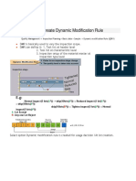 Create Dynamic Modification Rule -DMR