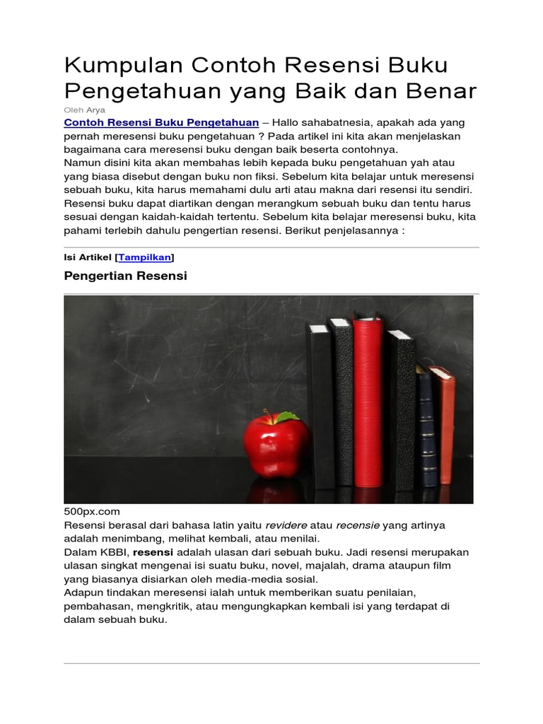 Fantastic Cara Membuat Resensi Buku Pdf Ideas - Professional Resume ...