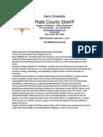 911 Ralls County Sheriff