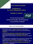 Econometrics 1 Topic 1