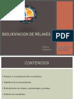 Biolixiviación de relaves
