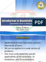 Introduction to Quantitative Analysis FINAL REPORT