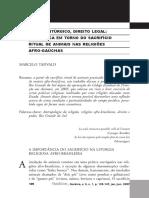 O Mercado Sagrado Identidade e Territorialidade Entre Afro-religiosos