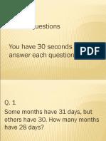 5 Trick Questions