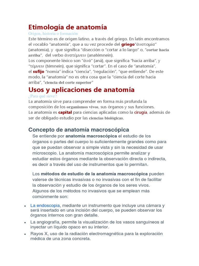 Etimología de Anatomía