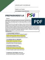 Prueba N° 1 entrenamiento PSU comprensión  lectora