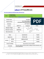 Datasheet of Pemafibrate|CAS 848259-27-8|sun-shinechem.com