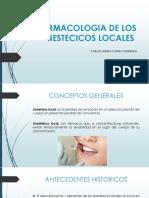 Farmacologia de Los Anestecicos Locales