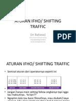 Balancing and Shifting Traffic IFHO