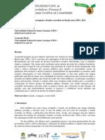 Ranking de corrupção e fraudes ocorridas no Brasil entre 1999 e 2012