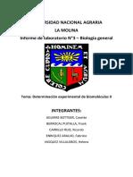 Informe 3_determinación Experimental de Biomoléculas II