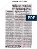 The Times of India  – News Report -  Sahara Diaries on Payoffs to Top Politicians in India
