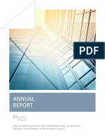Annual Report Template for Word