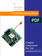 SIM900A Dual-band GSM Interfacing Board