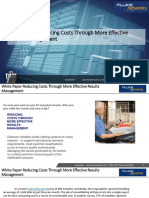 White Paper Reducing Costs Through More Effective Results Management