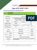 Datasheet of PF-562271 HCl CAS 939791-41-0 sun-shinechem.com
