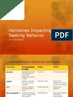Hormones Impacting Food Seeking Behavior