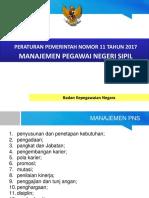 Materi Sosialisasi Manajemen PNS Sesuai PP 11 Tahun 2017