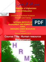 HRM MODULE NO 1