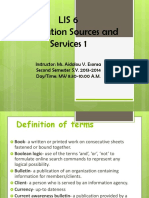 Information Sources and Services