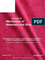 Determination of Mode i Stress Intensity Factors of Complex Configuration Using Strain Gages
