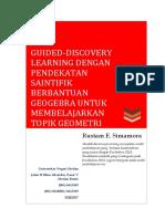 Guided-Discovery Learning dengan Pendekatan Saintifik Berbantuan Geogebra untuk Membelajarkan Topik Geometri