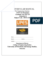 Non Cit Physics Lab Manual Sem 1- 2017-18 (1)