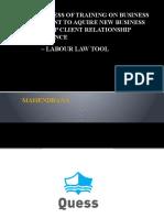 Effectiveness of Training on Business Development to Aquire Mahe