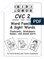 CVC2 Short-AD Word Family Sample