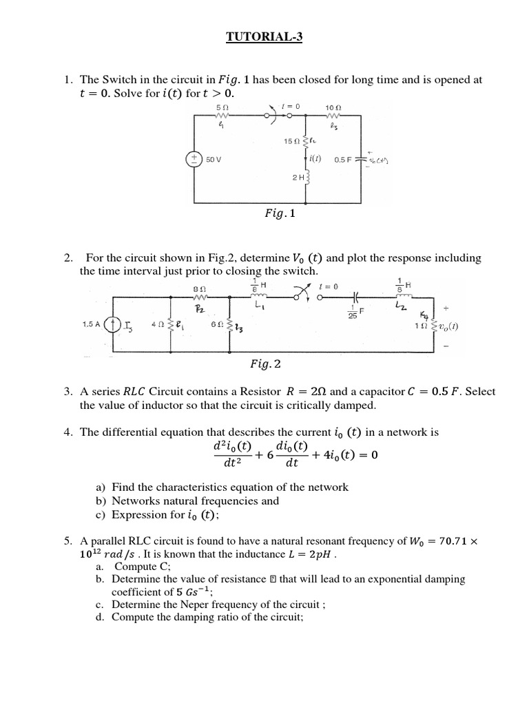 Tutorial 3 Solving A Circuit Containing Resistor And Inductor In Parallel